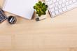 Modern workspace on the desk