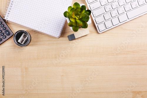Fototapeta Modern workspace on the desk obraz na płótnie