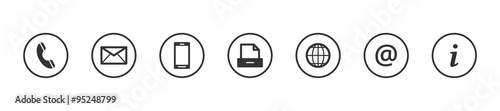 Fotografia  Kontakt Icons Buttons Grau