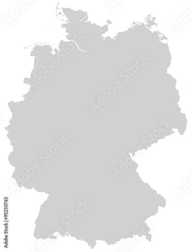 Fotografie, Obraz  Karte von Deutschland