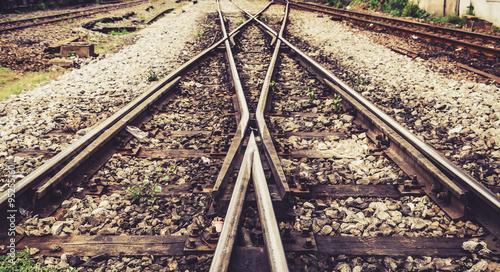 Poster Voies ferrées train rail way