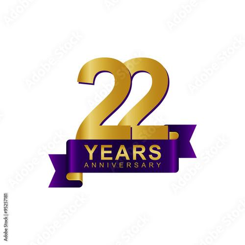 Poster  Anniversary Logo Dark Purple Gold 22