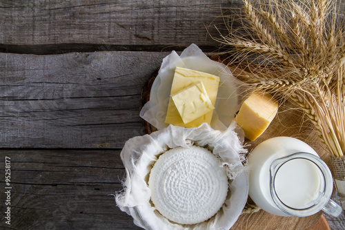 Staande foto Zuivelproducten Selection of dairy products