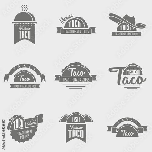Fotografie, Obraz  vector set of taco logo concepts
