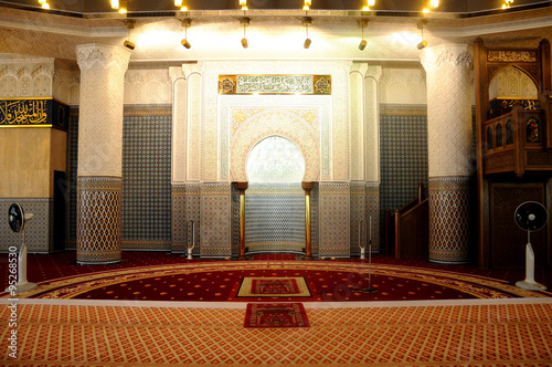 Photo Interior of the National Mosque of Malaysia a.k.a Masjid Negara