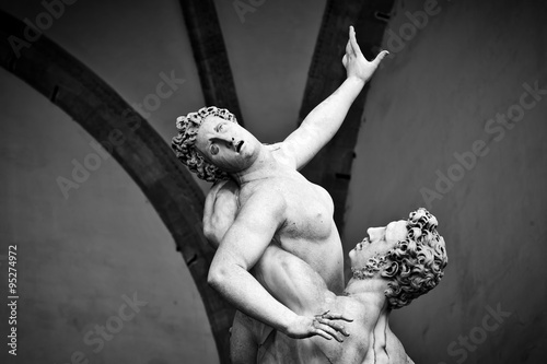 Ancient sculpture of The Rape of the Sabine Women Wallpaper Mural