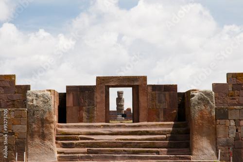 fototapeta na szkło Gate of the Sun - Tiwanaku - Bolivia