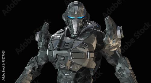Photo  Advanced future soldier
