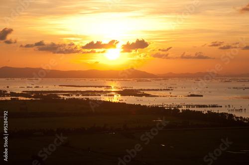 Fotografia, Obraz  beautiful sunset in Mekong Delta