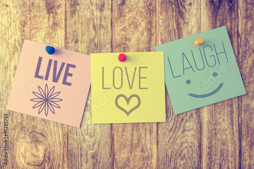 Live,Love,Laugh Wallpaper Mural