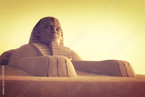 In de dag Egypte Egyptian sphinx