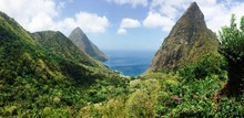 Looking Out Into The Ocean Near The Grand Piton