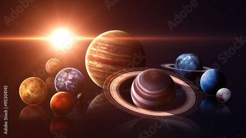 Photo Hight quality isolated solar system planets