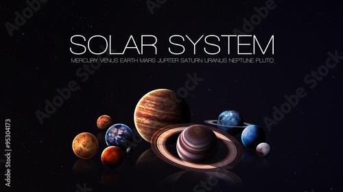 Obraz na plátně Hight quality isolated solar system planets