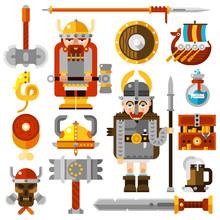 Vikings Icons Set
