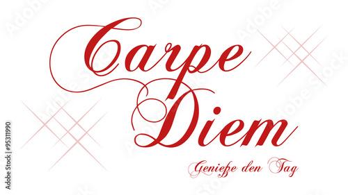 Cds2 Carpediemsign Carpe Diem Wandtattoo Geniesse Den Tag