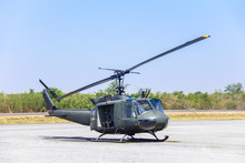 Military Helicopter (huey) At ...