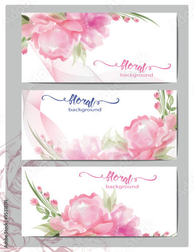 A Set Of Flyers Brochures Templates Design Vintage Cards With