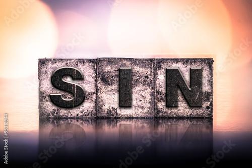 Fotografia Sin Concept Vintage Letterpress Type