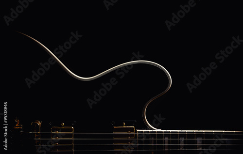 Electric Guitar Abstract Fototapet