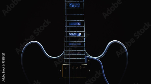 Fotografie, Obraz  Electric Guitar Abstract