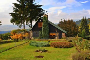 Fototapeta na wymiar Dom w ogrodzie
