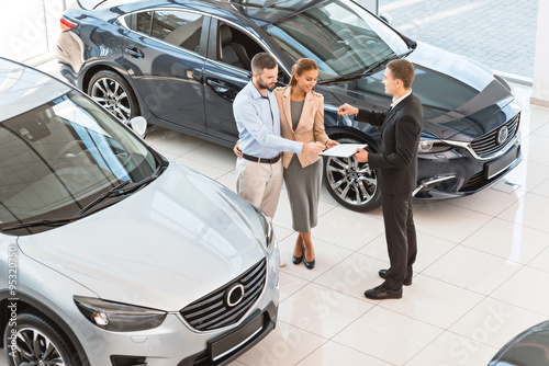 Fototapeta Creative concept for car rental obraz