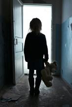 Depressed Girl Leaving The Room