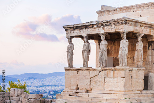 Foto op Aluminium Athene Detail of Erechtheion in Acropolis of Athens, Greece