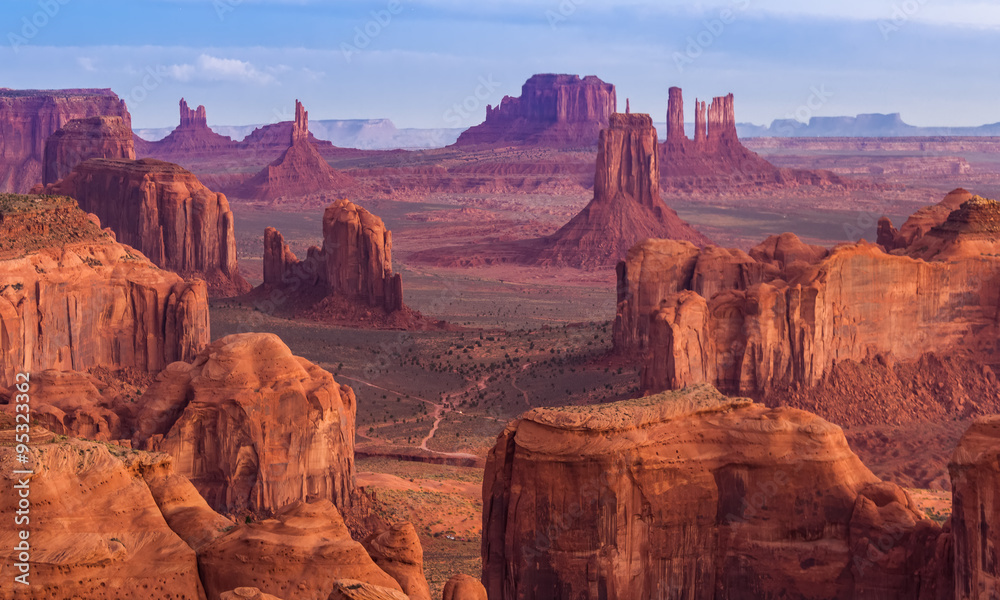 Fototapety, obrazy: Sunrise at Hunts Mesa viewpoint
