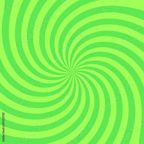 Retro Radial Background Illustration Stylish Green Colored Buy