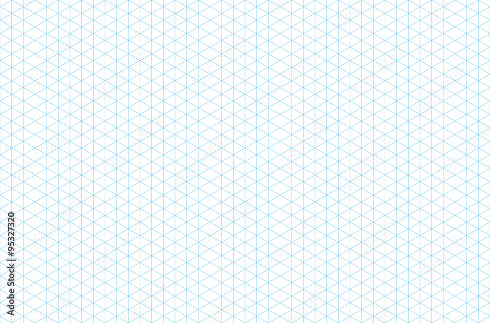 Fototapety, obrazy: template isometric grid seamless pattern