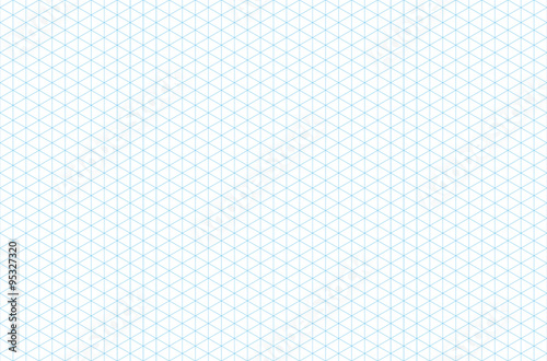 template isometric grid seamless pattern Fototapet