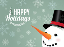 Snowman And Snowflake Holiday ...