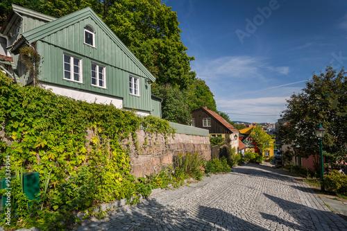 Künstlerviertel Damstredet in Oslo Lerretsbilde