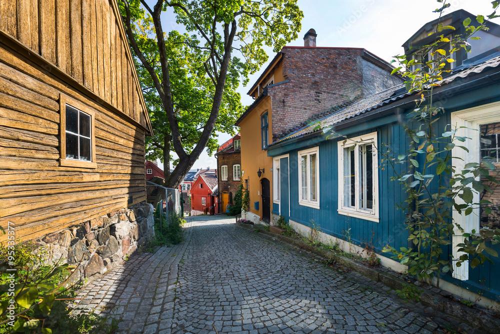 Fotografering  Künstlerviertel Damstredet in Oslo