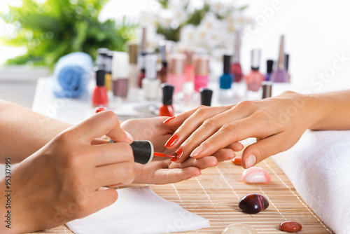 Foto op Canvas Manicure Manicure procedure