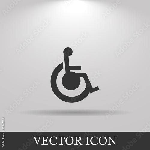 Canvas Print cripple Flat Simple Icon