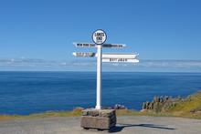 Distance Signpost At Land's En...