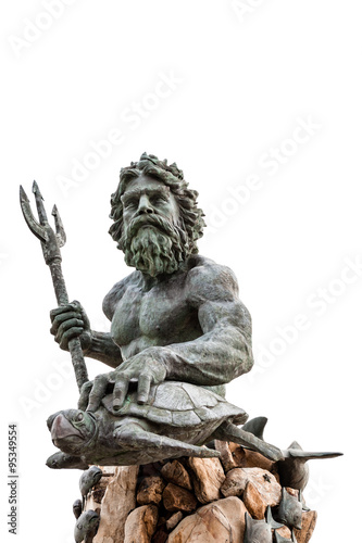 King Neptune Statue at Virginia Beach Canvas Print