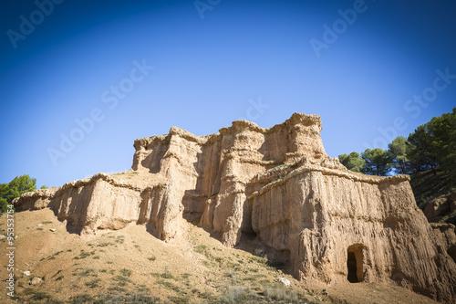 natural sculptures caused by erosion - Morata de Jiloca, Zaragoza, Aragon, Spain Wallpaper Mural
