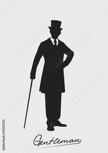 Foto silhouette of a gentleman in a tuxedo
