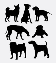 Dog Pet Shop Symbol Silhouette...
