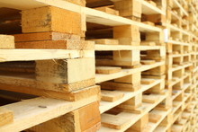 Wood Pallet In Factory