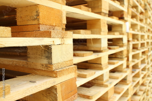 Carta da parati Wood pallet in factory