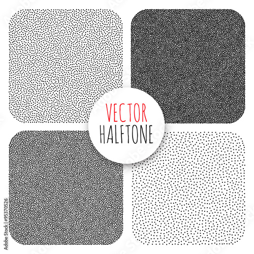 Valokuva  Vector Halftone Background