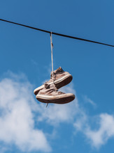 Old Sneakers On A Wire
