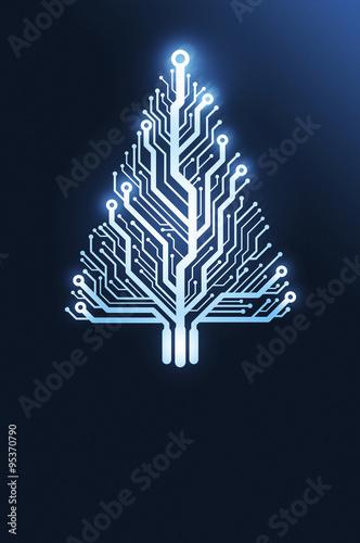 Fotografía  Kartka świąteczna - technologia, inżynieria