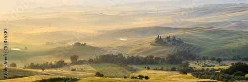 Wall Murals Beige summer landscape of Tuscany, Italy.