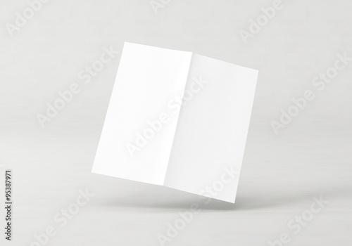 Broschüre Folder DIN Lang geschlossen Vorlage Canvas Print